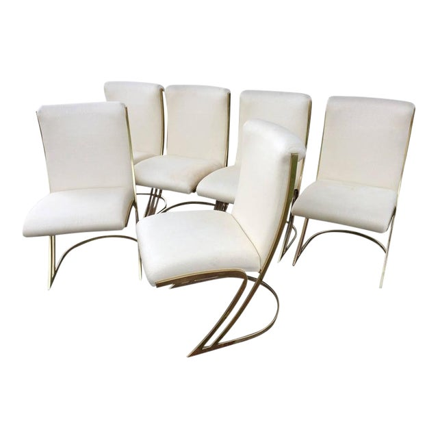Pierre Cardin Vintage Brass Dining Chairs - Set of 6 For Sale - Image 12 of 12