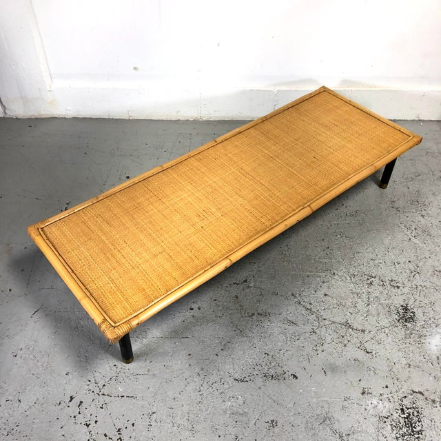 Mid Century Modern Ficks Reed Bamboo / Rattan Benches For Sale In New York - Image 6 of 13