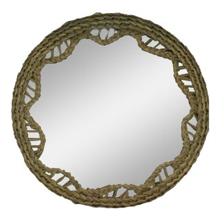 Nautical Round Rope Mirror For Sale