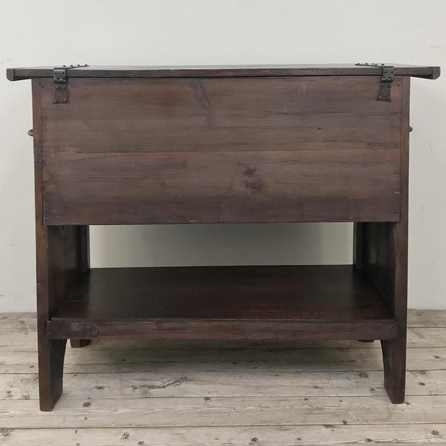 Antique French Gothic Low Buffet - Console - Sofa Table For Sale In Dallas - Image 6 of 13