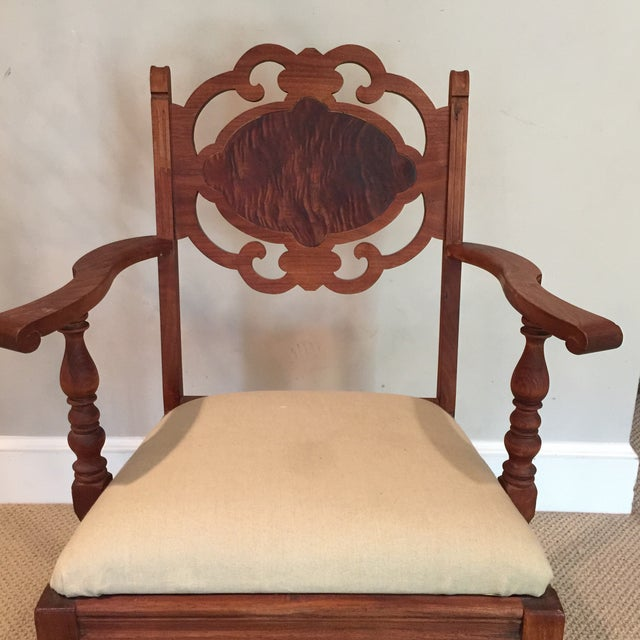 Carved Mahogany Armchair - Image 3 of 11