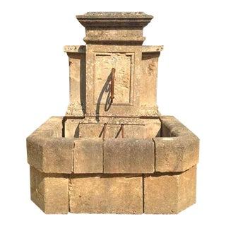 Mid 19th Century Antique Limestone Wall Fountain, Circa 1850 For Sale