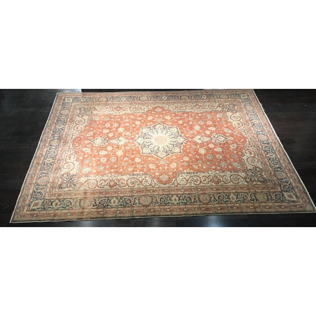 "Vintage Turkish Oushak Rug - 8'9"" x 11'10"" - Image 3 of 8"