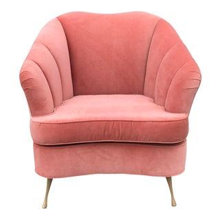 Shell Back Hollywood Regency Style Club Chair