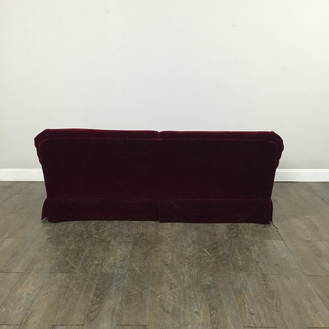 Vintage Mohair Sofa For Sale - Image 10 of 11