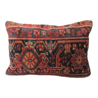 Turkish Antique Kilim Rug Decorative Pillow Cover - 24ʺW × 16ʺH For Sale