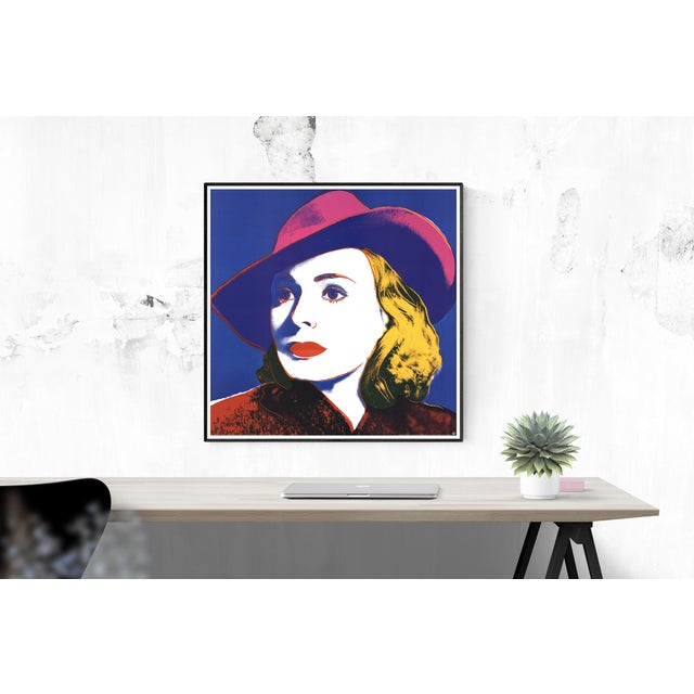 Very large reproduction of Warhol's Ingrid with Hat published and printed in 1990 by Te neues Publishing in Germany. Some...
