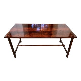 Custom Flame Mahogany Collapsible Dessert or Serving Table For Sale