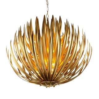 "Florentine Antique Gold Leaf Artichoke Light (25.6"") For Sale"