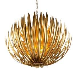Image of Gold Leaf Chandeliers