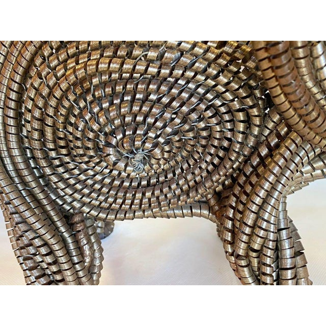 Metal Mid Century Elephant Sculpture From Industrial Material For Sale - Image 7 of 13
