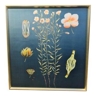 Bungalow 5 Auer Framed Silk Panel Dark Blue For Sale