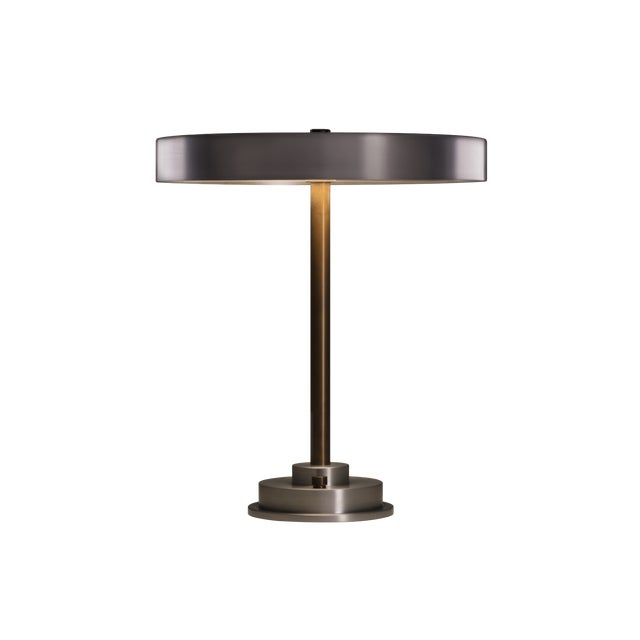 Argosy Product Division Disc Lamp in Burnished Aluminum For Sale