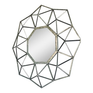 Contemporary Geometric Starburst Mirror For Sale