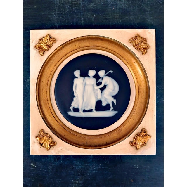 Empire Early 20th Century Wedgwood Wall Hanging Decorative Plates - a Pair For Sale - Image 3 of 10
