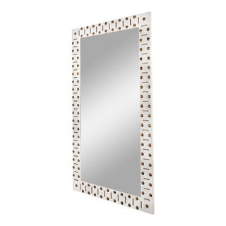 Gambrel Mirror in Eggshell / Burnished Brass - Steven Gambrel for The Lacquer Company For Sale