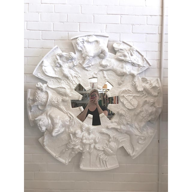 White Zodiac Mirror by Finesse For Sale - Image 8 of 8