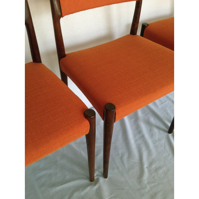 Mid-Century Rosewood Dining Chairs - Set of 8 - Image 9 of 10