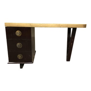 1940s Art Deco Mahogany Writing Desk For Sale