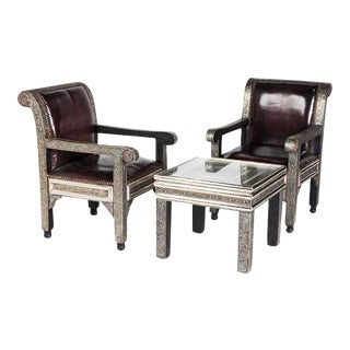Idrisid Chairs and Coffee or Centre Table Living Room - Set of 3