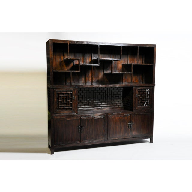 Asian Chinese Lattice Display Cabinet For Sale - Image 3 of 13