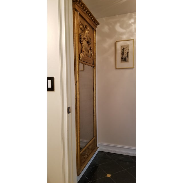 Tall Antique French Golt Gold Trumeau Mirror For Sale - Image 12 of 13
