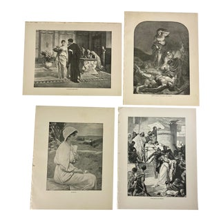 1892 Antique English Neoclassical Literature Prints - Set of 4 For Sale