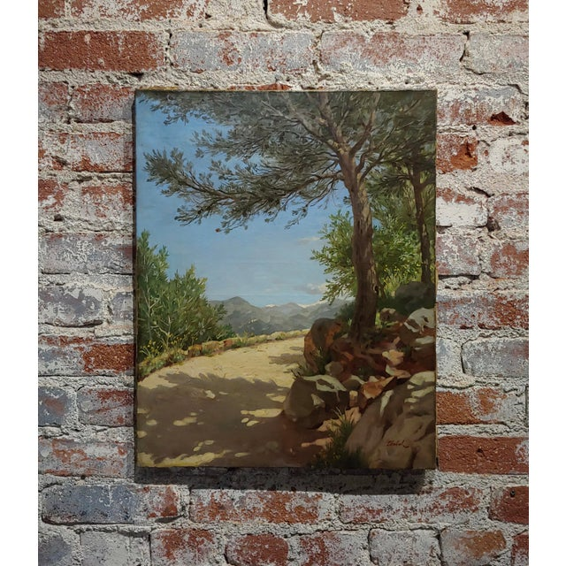 Pierre Adrien Chabal Dussurgey Picturesque Country Side Road-Oil Painting-C1860s For Sale - Image 10 of 10