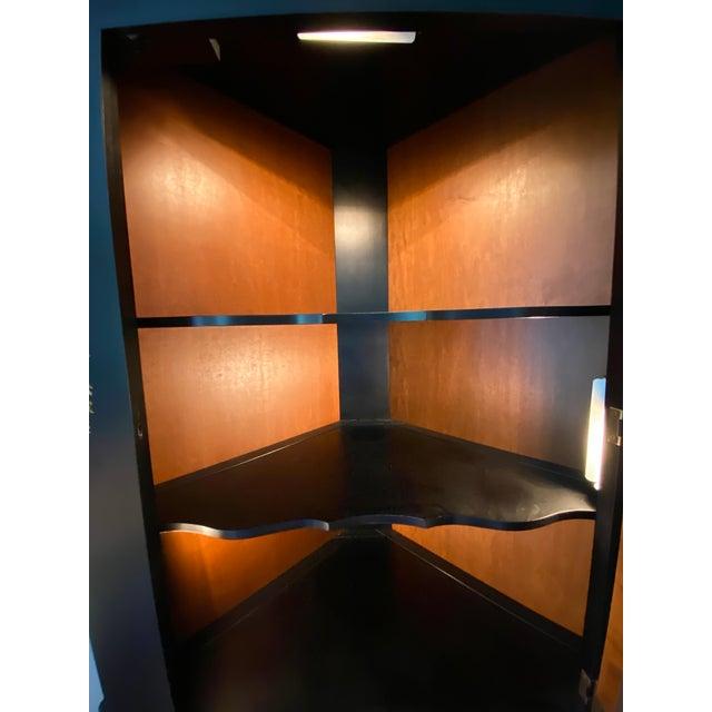 Black/Harvest Newington Hitchcock Lighted Corner Cabinet For Sale - Image 10 of 13