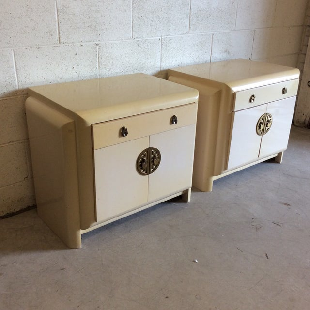 Asian Romweber Asian Style Nightstands - A Pair For Sale - Image 3 of 11