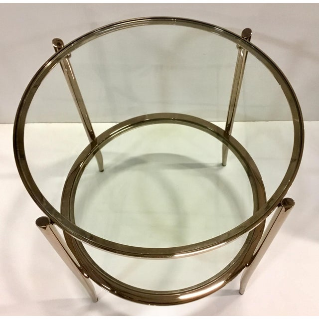 Caracole Modern Caracole Metal and Glass at First Blush End Table For Sale - Image 4 of 5