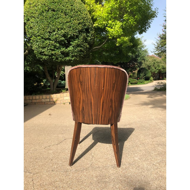 1930s Vintage Macassar and Mohair Dining Chairs - Set of 6 For Sale - Image 10 of 11
