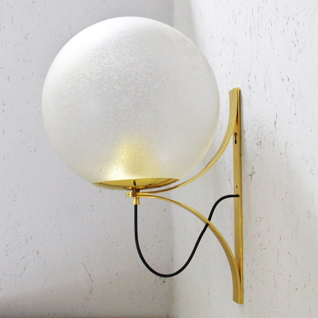 Five Large Globe Sconces by Seguso For Sale In Palm Springs - Image 6 of 12