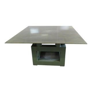 Shagreen Top Painted Wood Dining Table For Sale