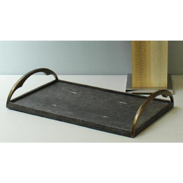R & Y Augousti R & Y Augousti Shagreen Stingray Tray For Sale - Image 4 of 5