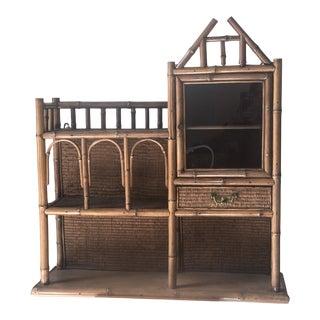Vintage Bamboo Shelf For Sale