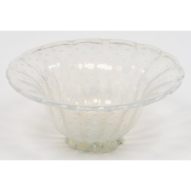 Cottage Iridescent Murano Glass Bowl For Sale - Image 3 of 9