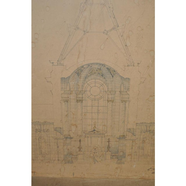 18th/19th Century Master Architectural Drawings For Sale - Image 10 of 11