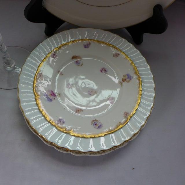 White Vintage Mismatched Dinner Setting - Set of 5 For Sale - Image 8 of 9