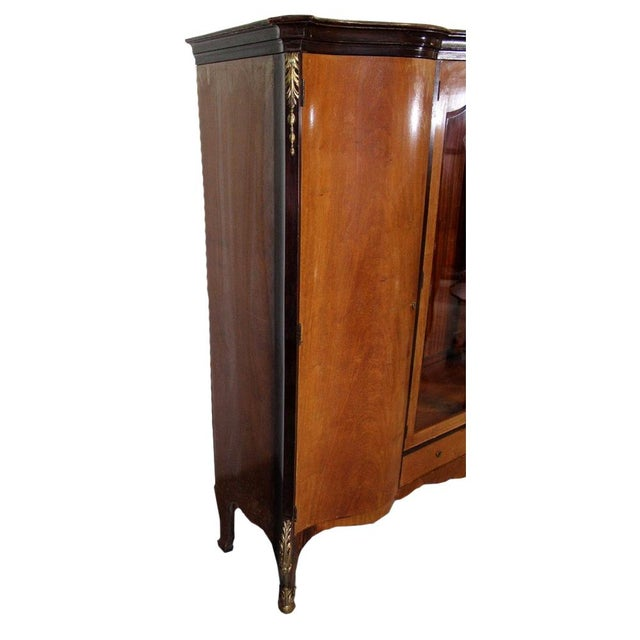 French Louis XV Bronze Banded Armoire For Sale - Image 3 of 10