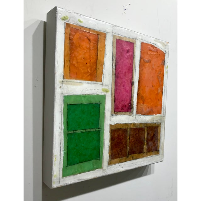 "Gina Cochran ""Necessity of Play No. 6"" Encaustic Collage Painting For Sale In Washington DC - Image 6 of 9"