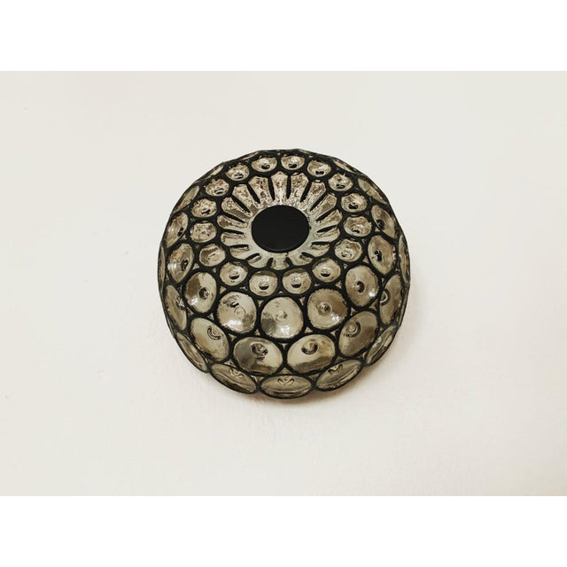 Black 1960s Mid-Century Modern Iron Ring Design Wall/Ceiling Lamp by Limburg For Sale - Image 8 of 8