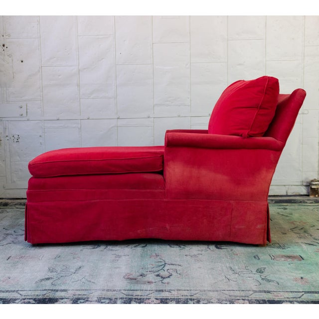 Textile Small Ladie's Chaise Longue For Sale - Image 7 of 11
