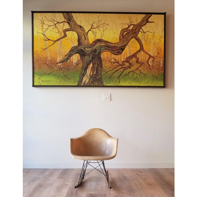 A rare 1960s Eames RAR rocking chair in Orche Light designed by Charles and Ray Eames for Herman Miller. The RAR is rare...