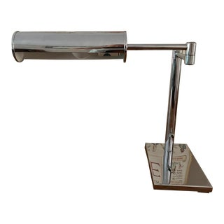Walter Von Nessen Mid Century Chrome Swing Arm Desk Lamp For Sale