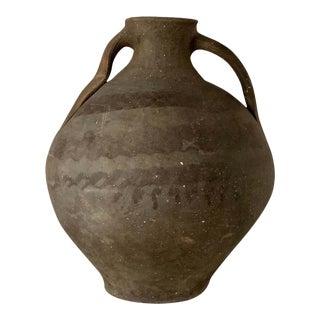 "18th Bridal Jug Grey Picher ""Cantaro"" From Calanda, Spain, Terracotta Vase For Sale"