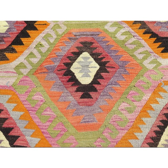 Vintage Turkish Kilim Rug- 5′9″ × 8′5″ - Image 5 of 6