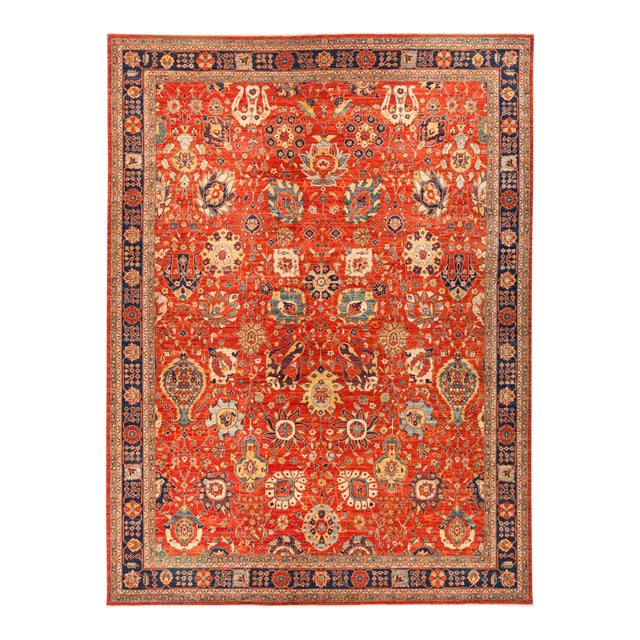 "Serapi Hand Knotted Area Rug - 12' 2"" X 15' 10"" - Image 1 of 4"