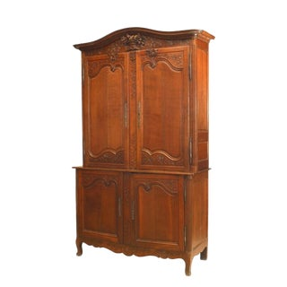 French Provincial '18th Century' Oak Cabinet For Sale