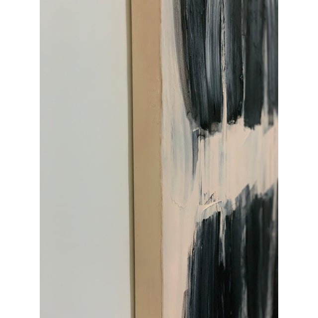 Abstract Carolanna Parlato After Melancholia III Abstract Black Beige Painting 2019 For Sale - Image 3 of 6
